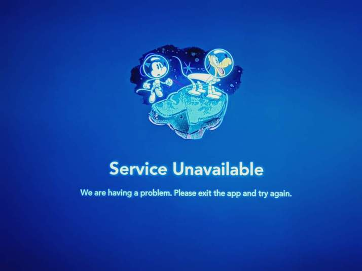 DISNEY + Service Unavailable